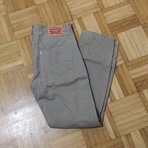 Levi 511 khaki straight jeans 33x30